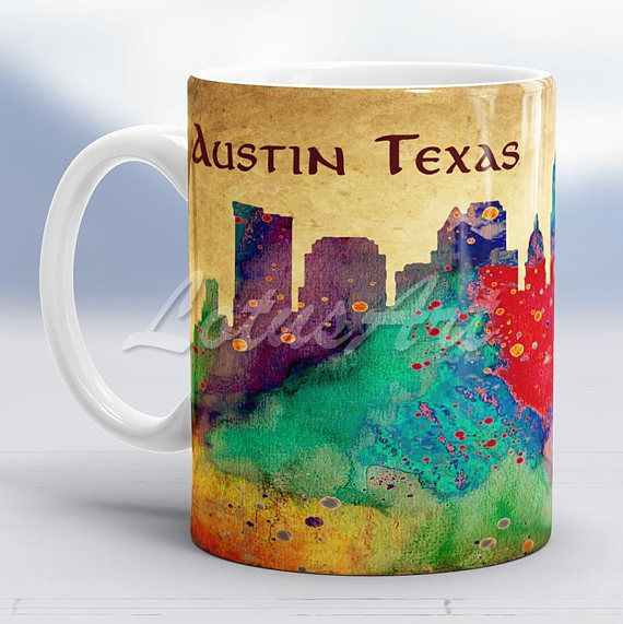 Austin Texas Mug Coffee Mug Christmas Gifts Custom Mug Travel Memories Gifts Mug Personalized Mugs