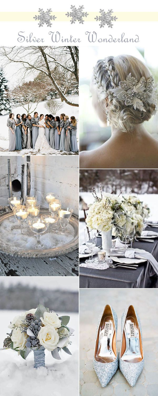 stunning glitter silver winter wonderland wedding ideas