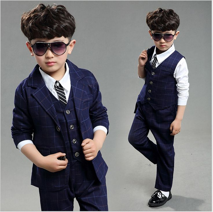 Toddler Boy Suits Formal For Wedding Big Boys Set Teenage Boutique Outfit Plaid Children Clothing Sets Kids Clothes Click Visit To Buy
