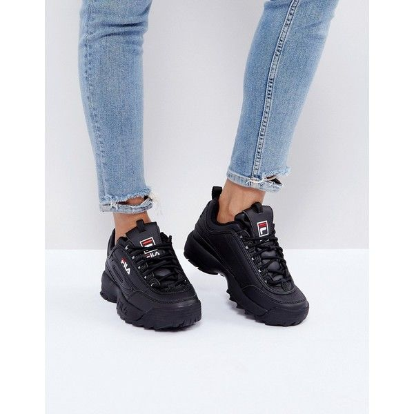 shoes, sneakers, black, fila trainers