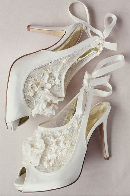 Flower and Lace Freya Rose Bridal Shoes