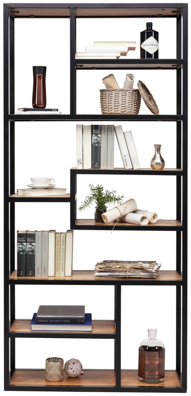 Shelf In 90 190 30 Cm Black Acacia Colors Modern Acacia Wood