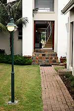 The pathway to the front door