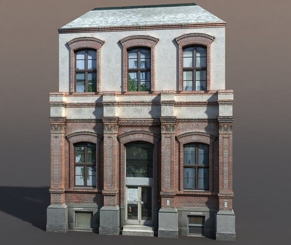 Great 3d Model Building Exterior Modeled   Apartment House #63 Low Poly 3d Model.