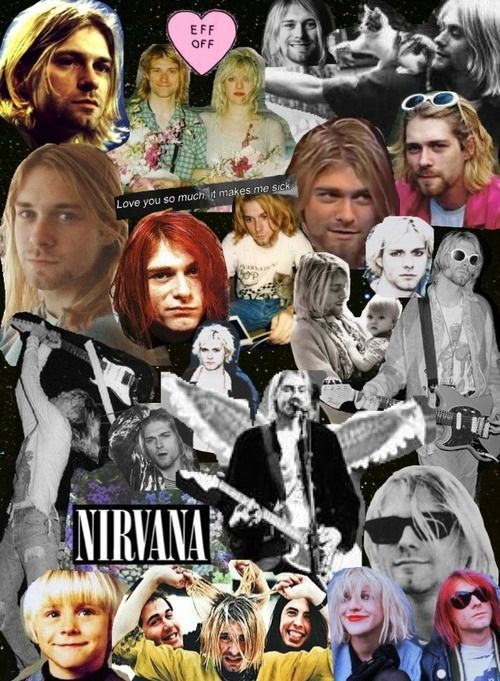 Musica Nirvana And: Kurt Cobain Collage