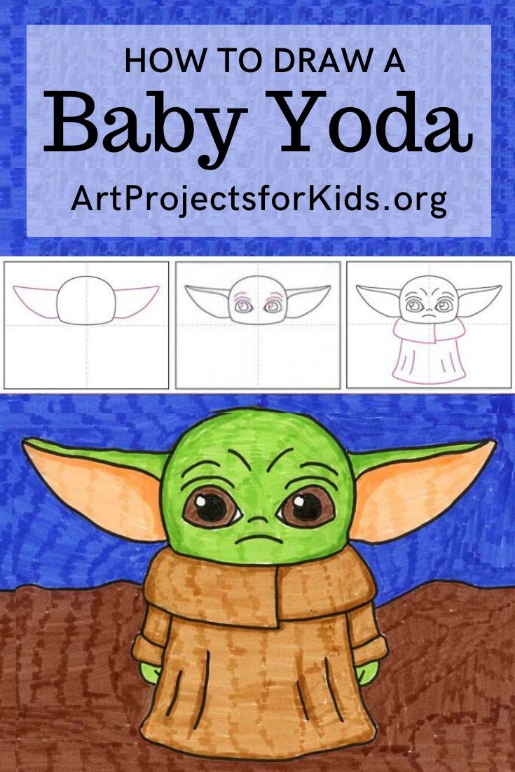 How to Draw Baby Yoda · Art Projects for Kids in 2020 ...