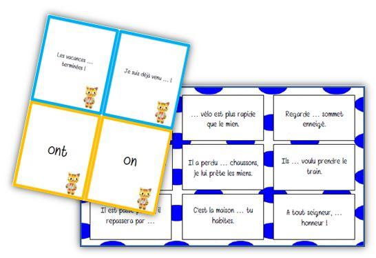 Jeux sur les homophones grammaticaux - La classe de Mallory