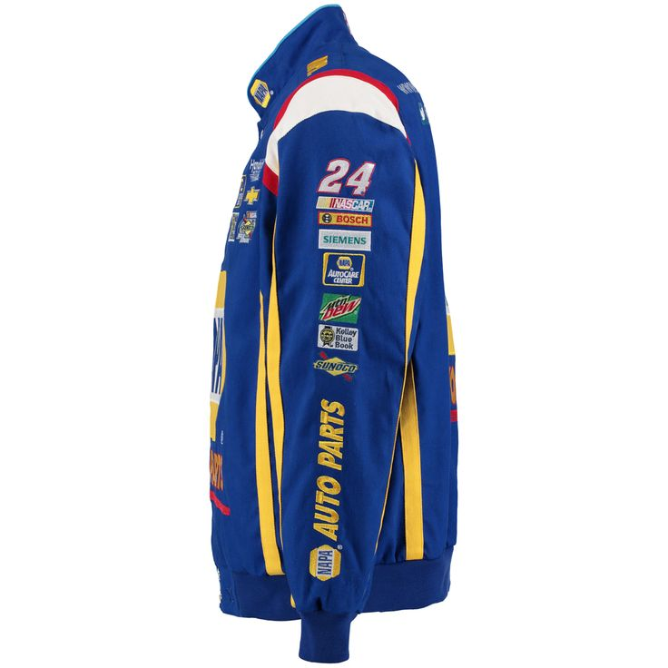 Chase Elliot JH Royal Napa color twill jacket. NASCAR.com/chaseelliot NASCAR superstore Small
