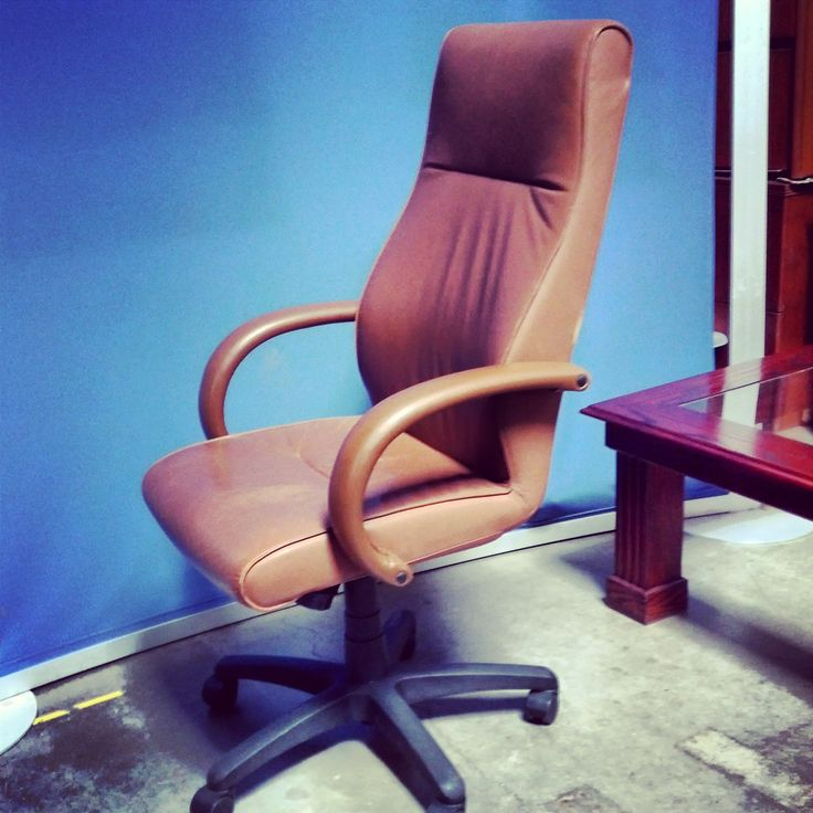 Brown Leather Used Office Chair Gorgeous Executive Look And Super Comfy