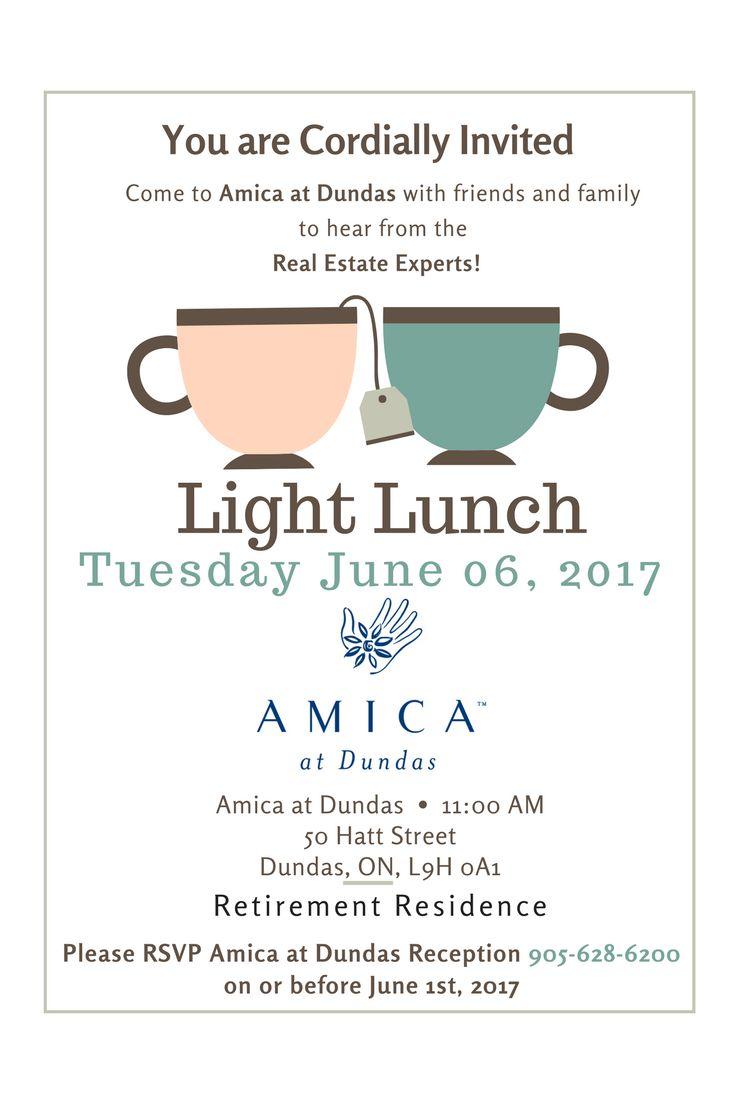 Information Session for Senior at AMICA at Dundas. 50 Hatt St., Dundas. RSVP 905-628-6200