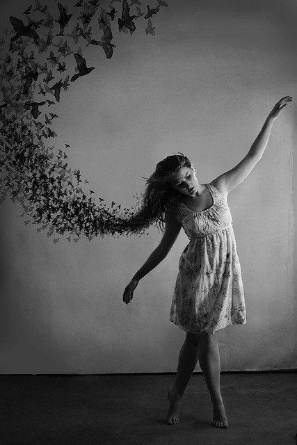 Fly, fly away: Inspiration, Hairs, The Ravens, Art, Photo Idea, Dance, Birds, Black, Night Circus