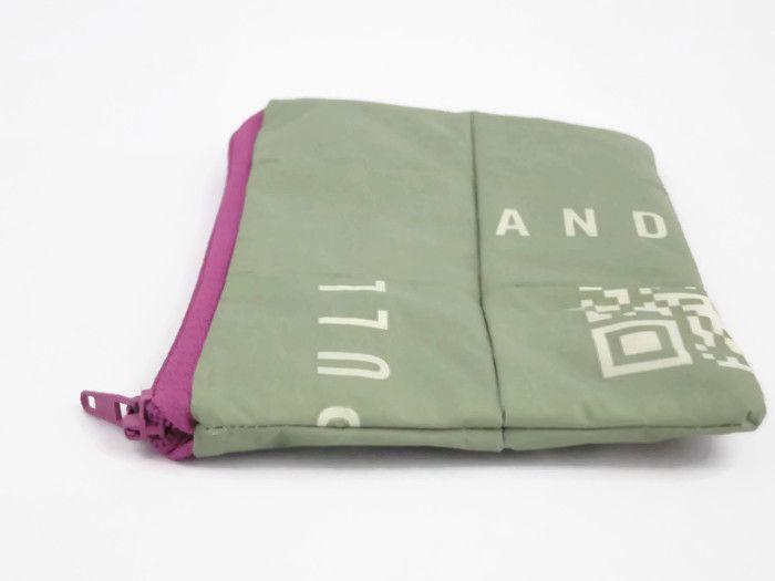 Kamerataschen - Graue Kameratasche, recycelte Reißverschlusstasche - ein Designerstück von A-BAG bei DaWanda