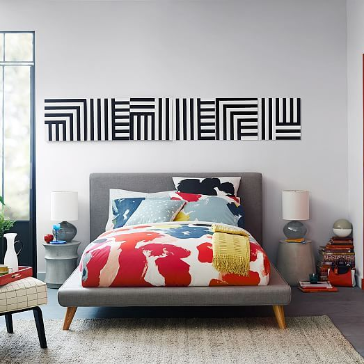 Kate Spade Saturday Wall Art - Zigzag Tile I | West Elm