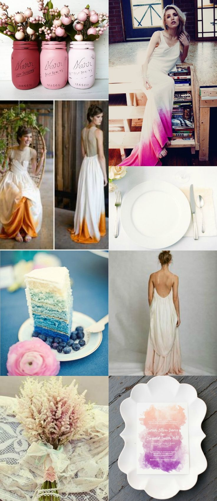ombre wedding Ombre is a fun trend, have fun with ombre for your #wedding. Follow www.labola.co.za for all the trends