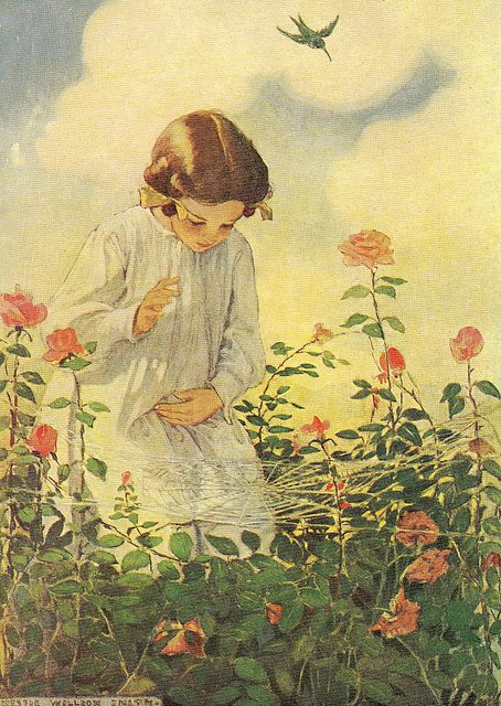 ⊰ Posing with Posies ⊱ paintings  illustrations of women  children with flowers -