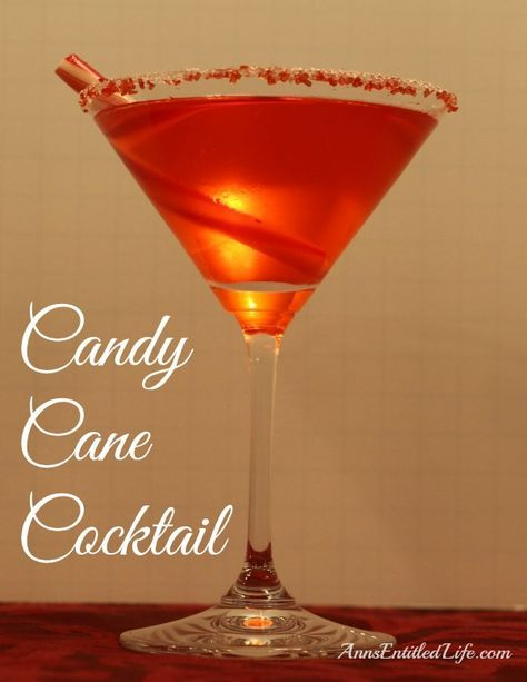 The Candy Cane Cocktail is refreshing adult beverage made with Whipped Cream Vodka, Peppermint Schnapps and Crème de Cacao. A cool, refreshing and festive holiday cocktail drink recipe. http://www.annsentitledlife.com/wine-and-liquor/candy-cane-cocktail/