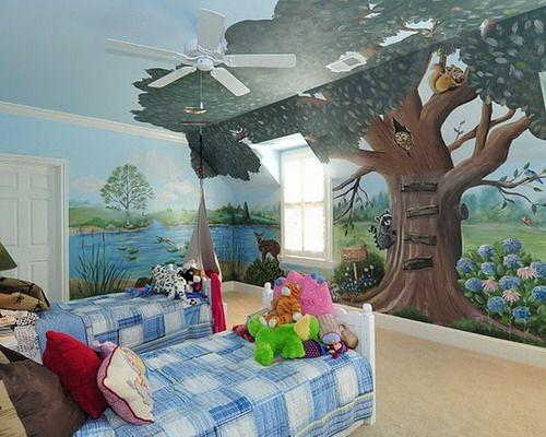 1000 ideas about kids wall murals on pinterest disney for Childrens mural ideas