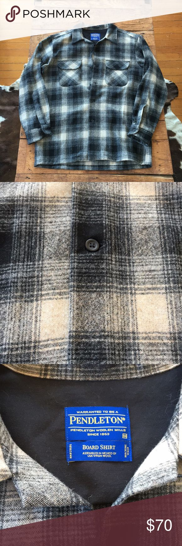Pendleton Board Shirt - BRAND NEW Black and grey. Virgin Pendleton wool. Pendleton Shirts Casual Button Down Shirts