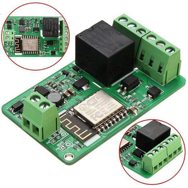 ESP8266 10A 220V Netzwerk Relais WiFi Modul Eingang DC 7V ~ 30V Sale - Banggood Mobile