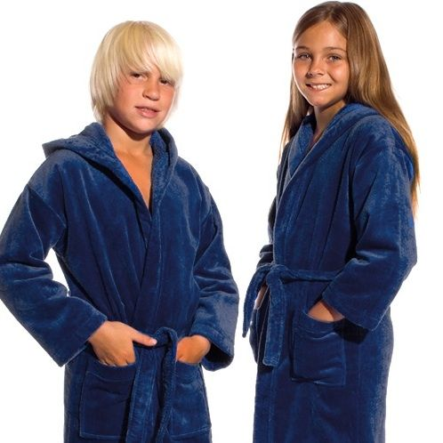 Hooded Terry Velour Kids Bathrobe, 100% Cotton, Made in Turkey. These bathrobes are designed for maximum comfort and durability.