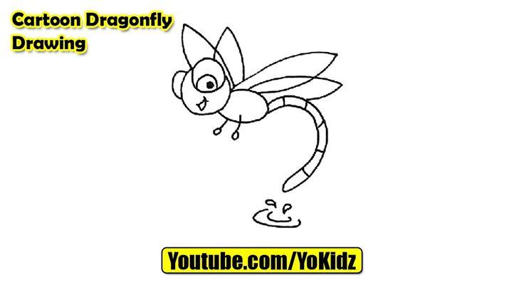 How to draw a Cartoon Dragonfly  Cartoon Dragonfly Drawing from YoKidz  #YoKidz #Drawing #PencilDrawing #Generaldrawing #Like4like #Likeforlike #Share4share #Shareforshare #Draw #DrawDragonFly #Blackandwhite #DragonFly #DrawCartoonDragonFly #CartoonDragonFly