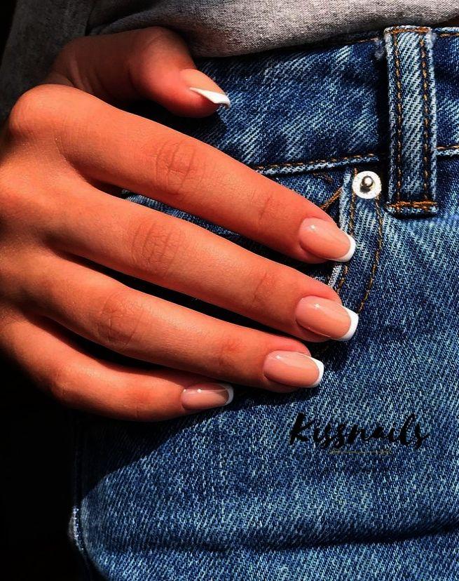 JINDIN 24 Blatt schwarz und rot matt gefälschte Nägel für Frauen Acryl kurze falsche Nagelspitzen Full Cover French Manicure Art – Nails❥