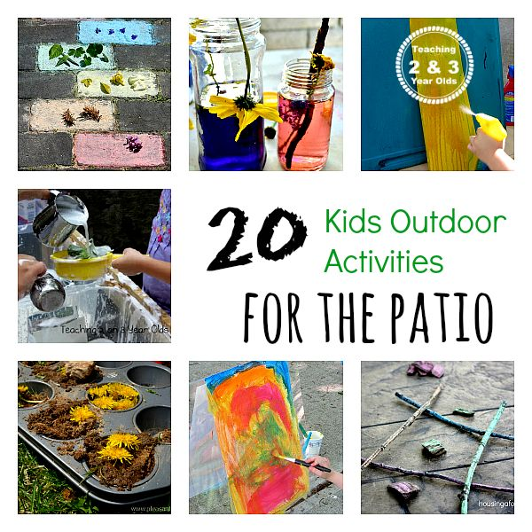 Outdoor Activities for Preschoolers - these work great for small backyards and patios! Teaching 2 and 3 Year Olds