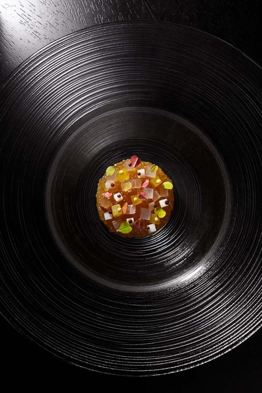 Alinea was founded in 2005 by Chef Grant Achatz and Nick Kokonas.  Featuring a single, seasonally driven tasting menu of between 18 and 22 courses, the experience of dining at Alinea is not only delicious, but also fun, emotional, and provocative.