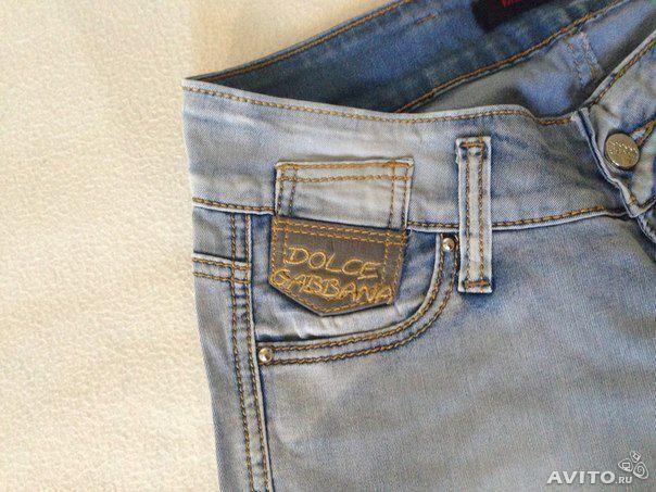 Dolce gabbana джинсы светло голубые