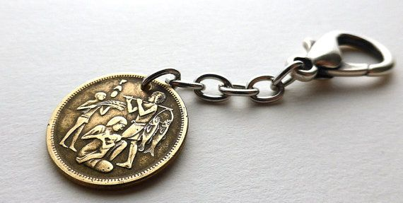 Egyptian Purse charm Coin charm Vintage charm by CoinStories