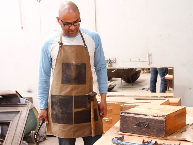 Leather and Canvas Apron - what a great father's day gift!