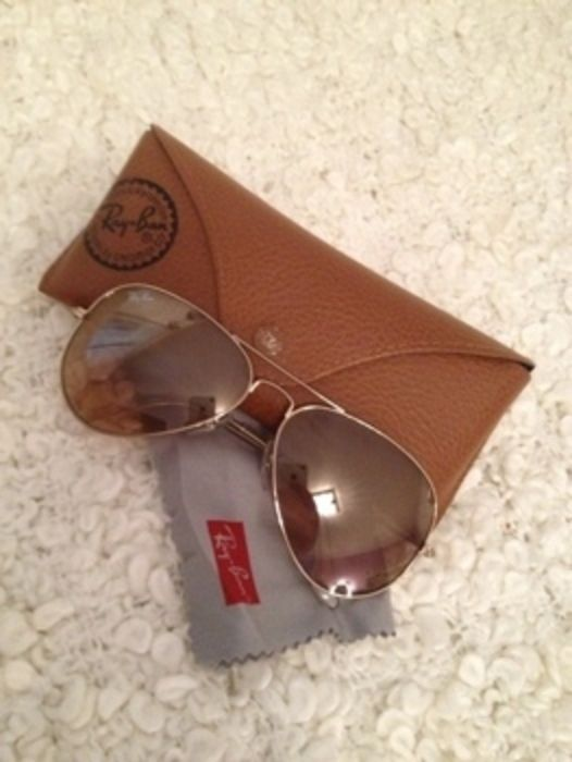 Ray Ban Aviator RB 3025 rosa/braun Original
