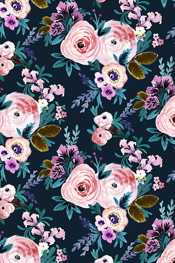 Victoria Floral Moody By Crystal Walen Hand Painted