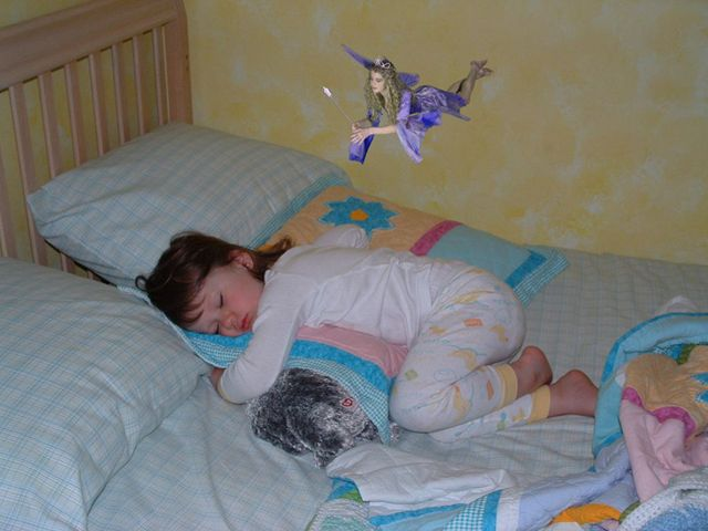 The night your child looses a tooth, take a picture, than go to this website and add a picture of the toothfairy. Such a cute idea