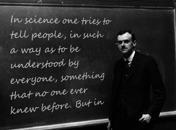 Quote of the Day: Paul Dirac on Poetry