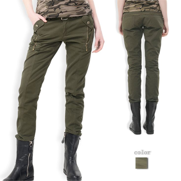 Women's army cargo pants overalls skinny pants plus size trousers camouflage trousers Free shipping Ladies pants