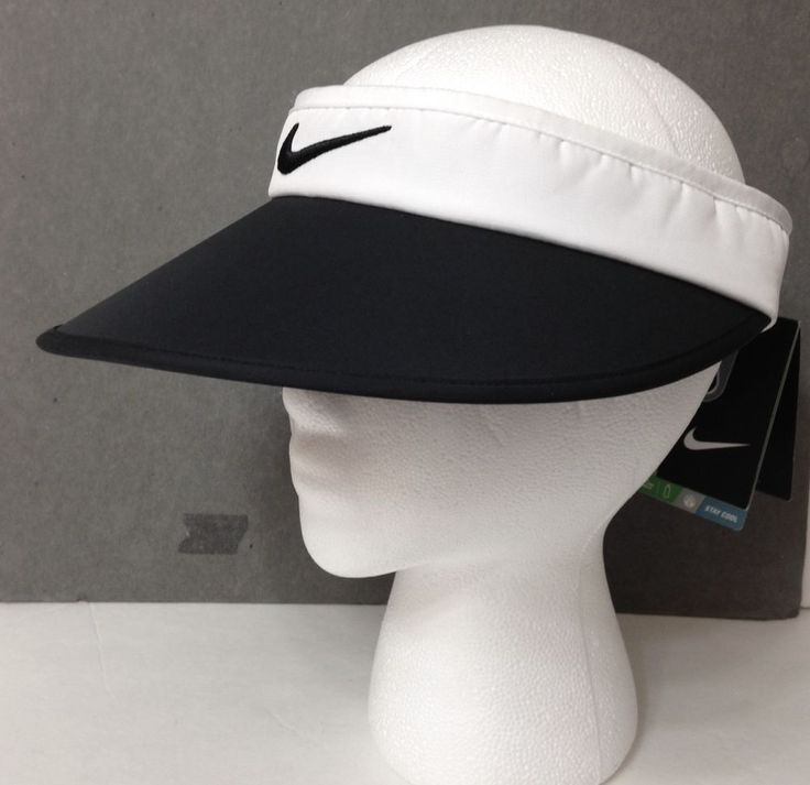 New$24 Womens NIKE GOLF WIDE BRIM VISOR Ladies Dry Fit Golf Sun Hat Black White #Nike #Visor #Golf