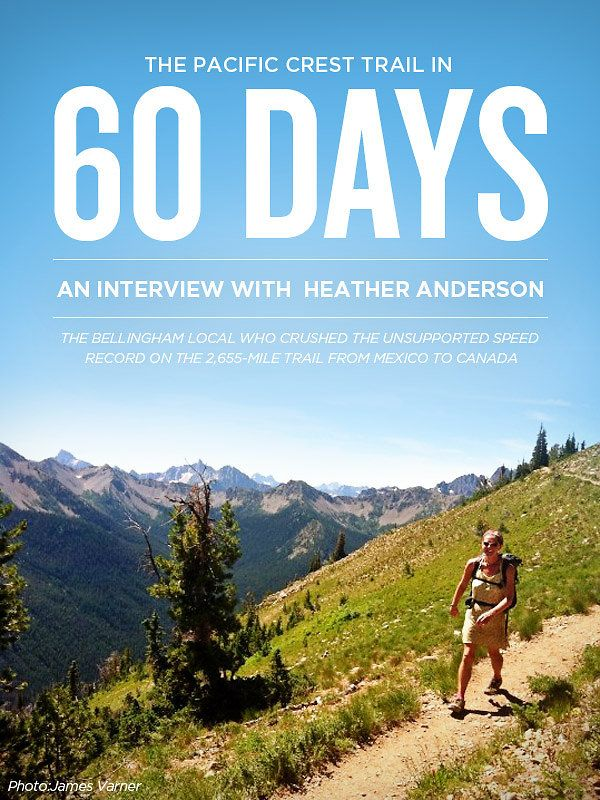 An interview with Heather Anderson (aka Anish), regarding her record-breaking trek of the Pacific Crest Trail.