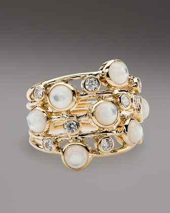 Diamond & Mother-of-Pearl Ring by Ippolita at Neiman Marcus.