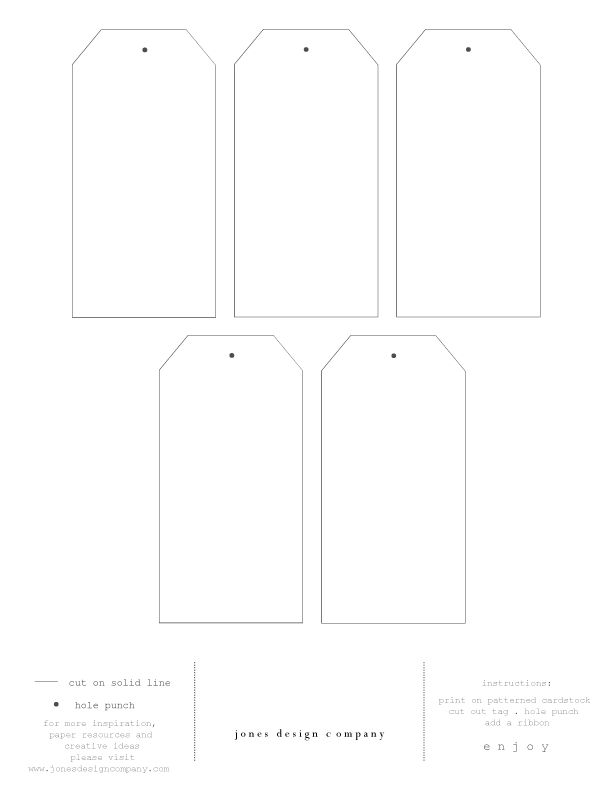 favor tags template-free | To create your own tags, feel free to download the tag template below.