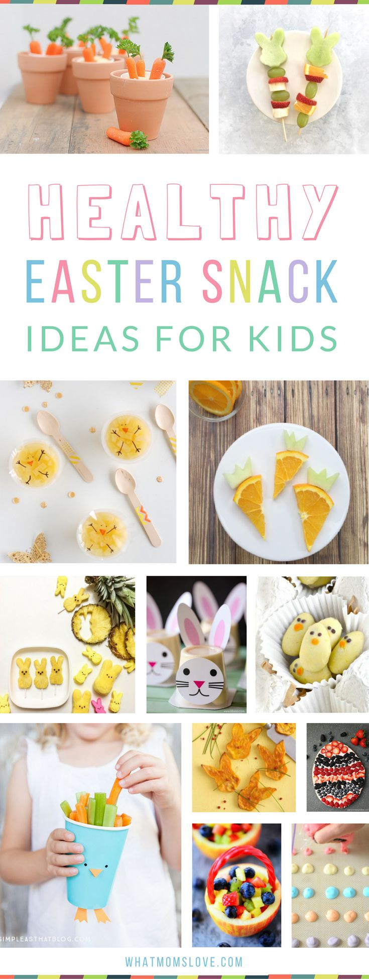 Healthy Easter Snack Ideas for Kids | Fun snacks that are great for school or for your party, perfect for toddlers, preschoolers and big kids too! Super cute and creative ideas that are easy to make. Plus creative food for breakfast, lunch and dessert!