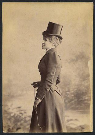 Auckland Amateur Theatricals [woman in riding habit]
