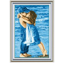 Precise Printed Sea Childhood Design DIY Home Decoration Handmade Needlework Cross Stitch Set Embroidery Cross-Stitching #KF(China (Mainland))