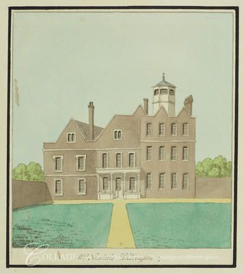 View of Belmont House in Hillingdon, Middlesex; Hillingdon is now in the London borough of Hillingdon.    c1820