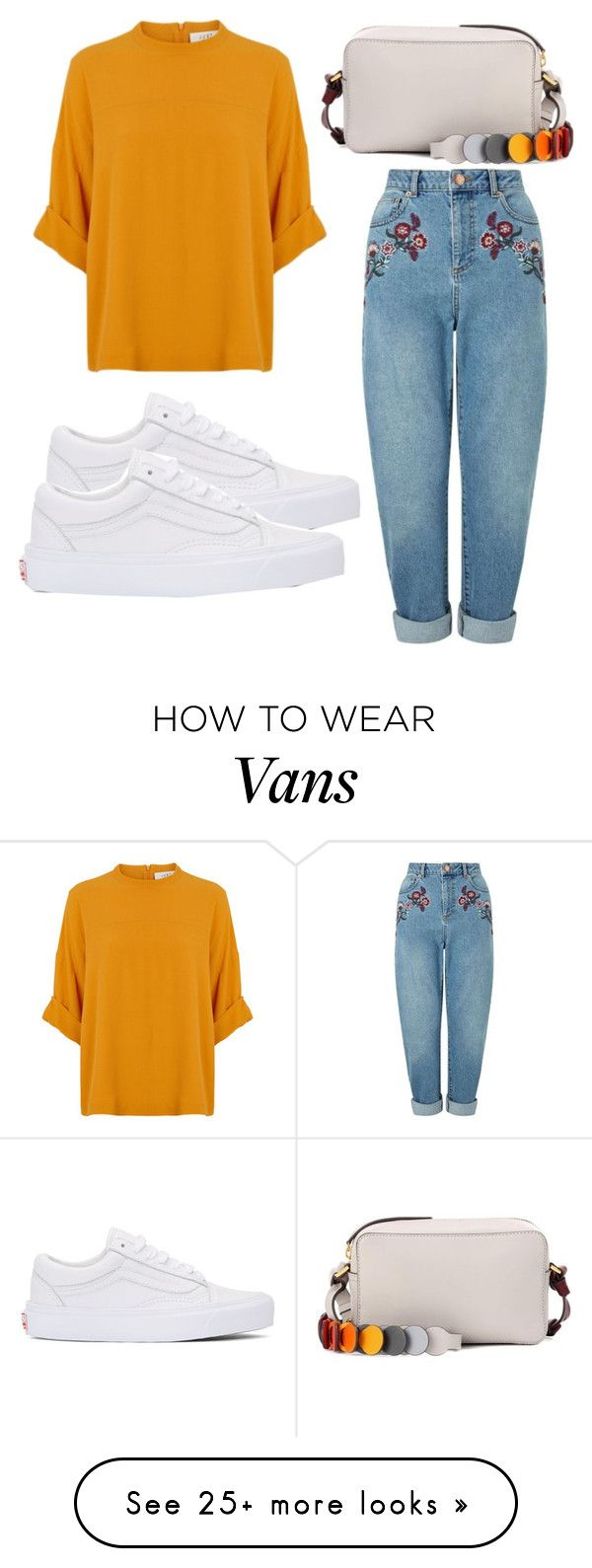 """Untitled #4121"" by evalentina92 on Polyvore featuring Miss Selfridge, Vans and Anya Hindmarch"