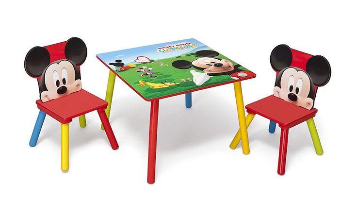 Mesa infantil con sillas de Mickey Mouse Clubhouse