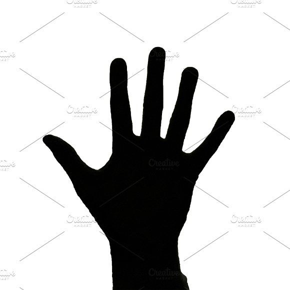 Open Hand Silhouette Isolated Graphi Hand Silhouette Open Hands How To Draw Hands