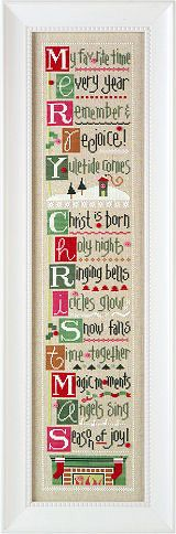 Click for our Merry Christmas By the Letter BorderInstructions