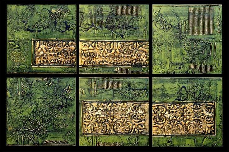Painted Creation - Green Earth & Cream