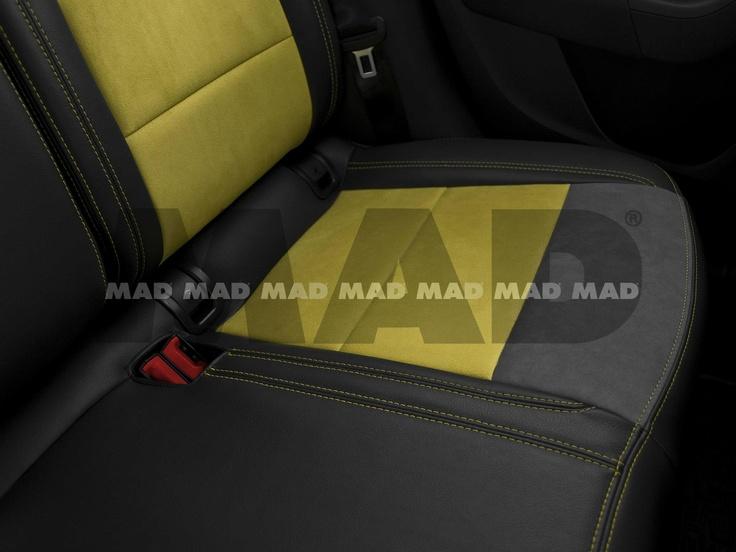 Alcantara® yellow + Alcantara® nimbus + Leather Look anthrazit